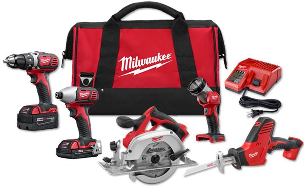Milwaukee M18 5-tool combo kit for $299, free shipping