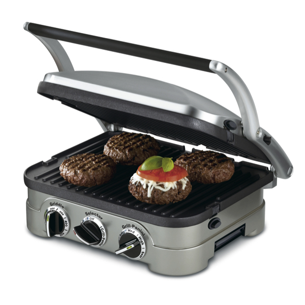 Cuisinart stainless steel grill & panini press for $50