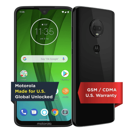 Moto G7 with Alexa 64GB unlocked smartphone for $200