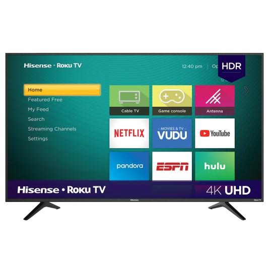 Hisense 58″ 4K Ultra HD Roku smart TV for $278