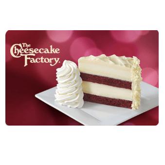 The Cheesecake Factory: Get a $15 bonus card with $50 gift card purchase