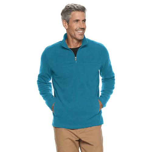Men's Croft & Barrow Arctic Fleece quarter-zip sweater for $8, free store pickup