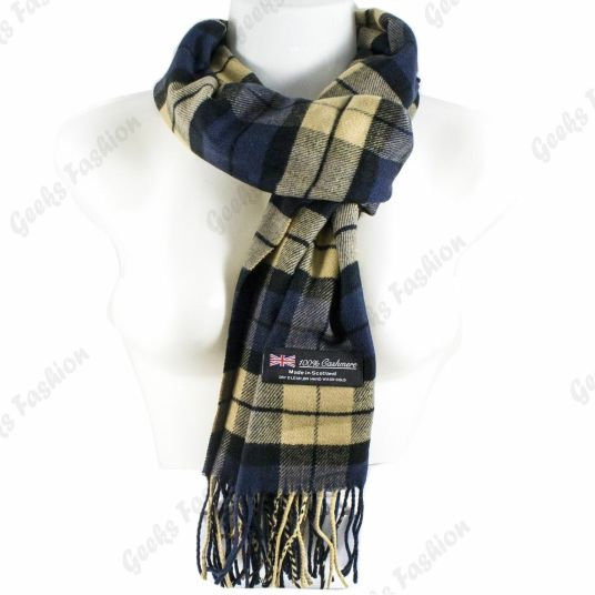 100% Cashmere plaid wool scarf for $7, free shipping