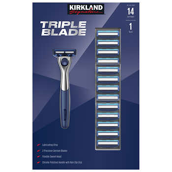 14-count Kirkland Signature triple blade razors from $15