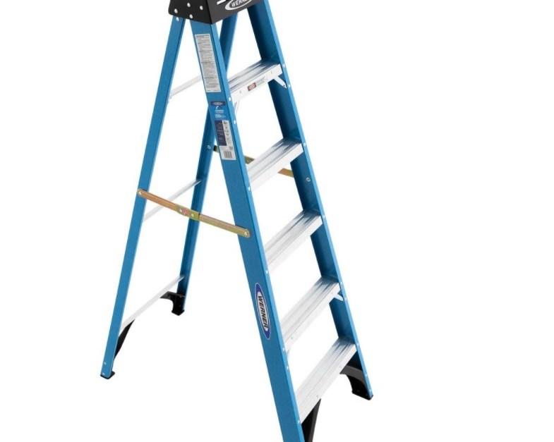Werner 6-foot fiberglass step ladder for $40