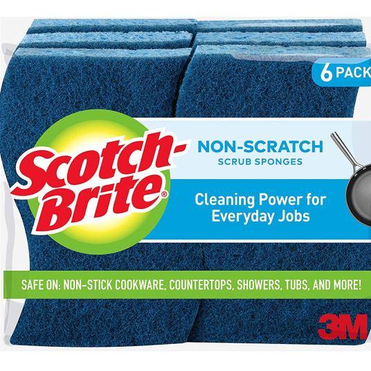 6-pack Scotch-Brite non-scratch sponges for $4