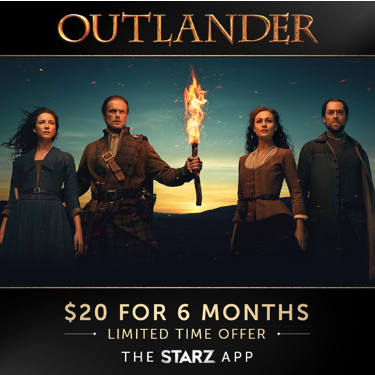 Stream Starz for as low as $3.33 per month!