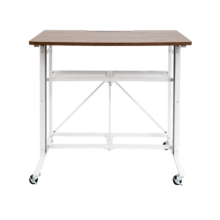 UP2U sit-stand adjustable fold-away desk & workstation for $85
