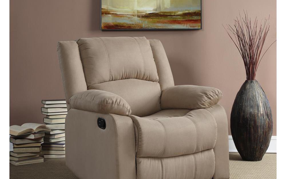 Preston microfiber recliner chair for $163