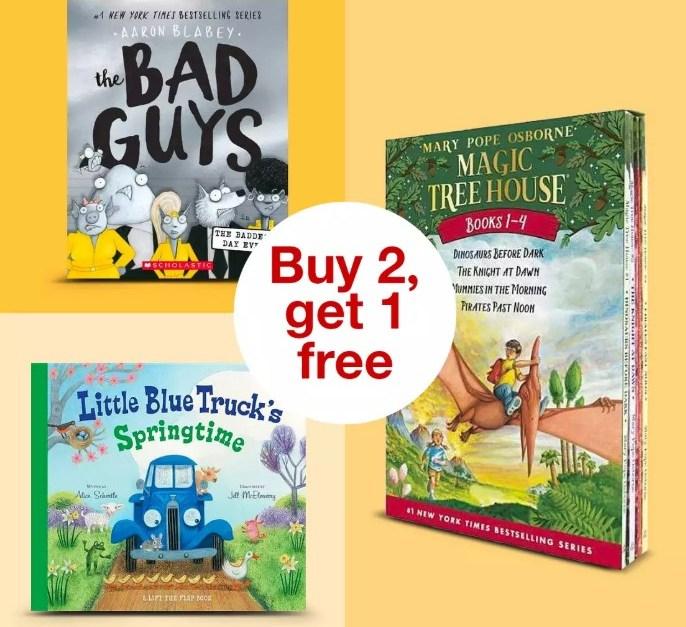 Buy 2, get 1 FREE kids books at Target