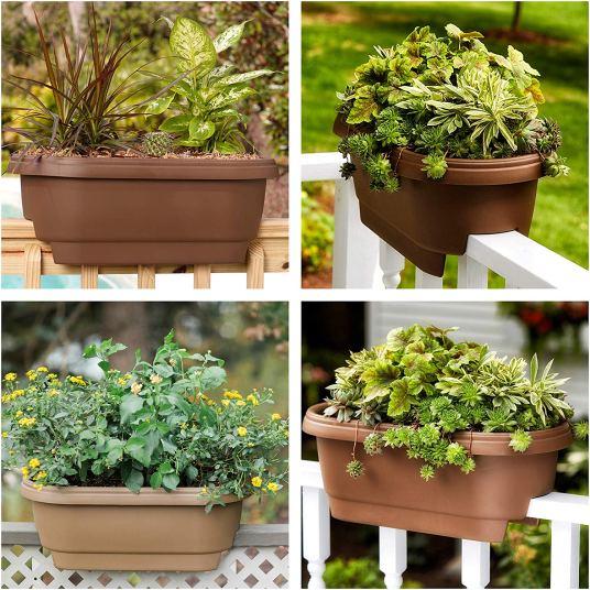 Bloem deck balcony rail planter for $11