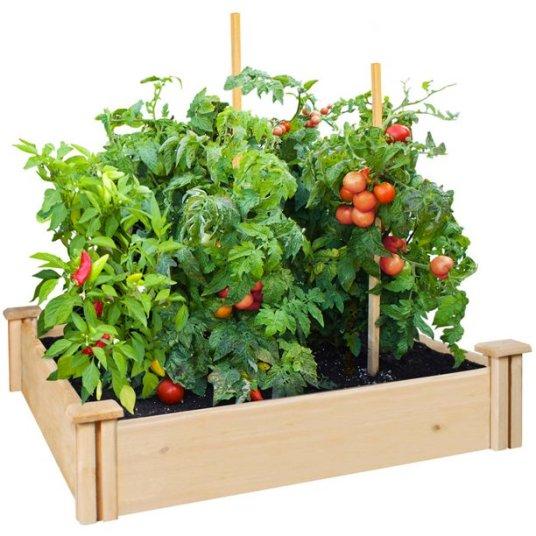Greenes Fence 42″ x 42″ x 5.5″ cedar raised garden bed for $28
