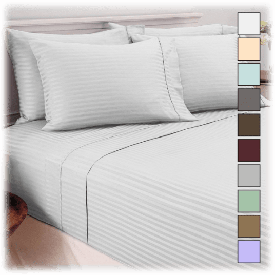Today only: Hotel New York 6-piece any-size striped sheet sets for $18