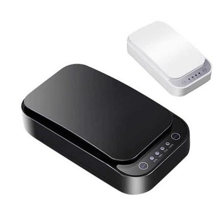 Swisstek 2-in-1 medical grade UV-light device sanitizer and charger for $50