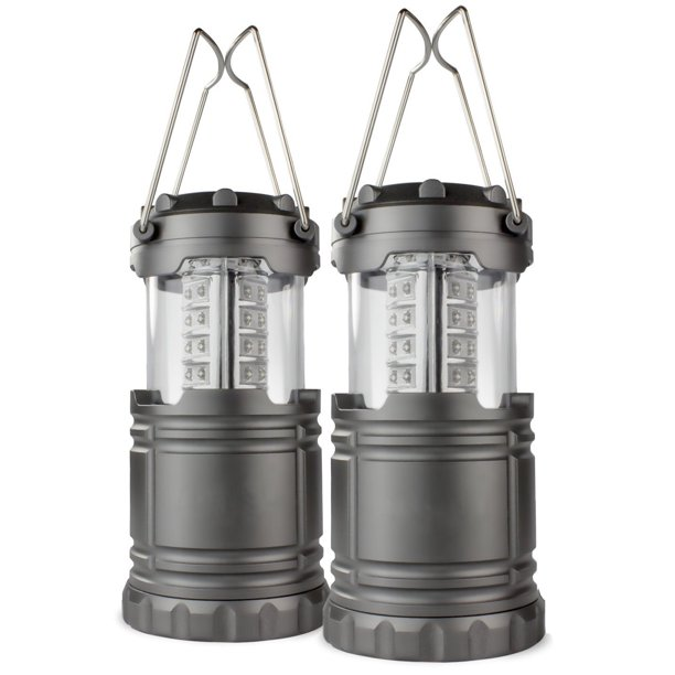 2-pack portable outdoor LED camping lanterns for $9