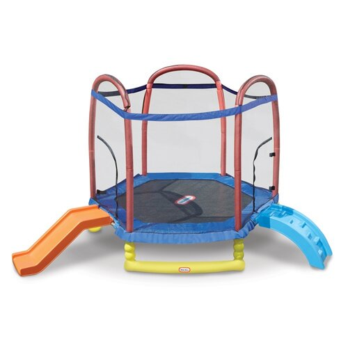 Little Tikes Climb 'n Slide 7-foot trampoline with enclosure for $330