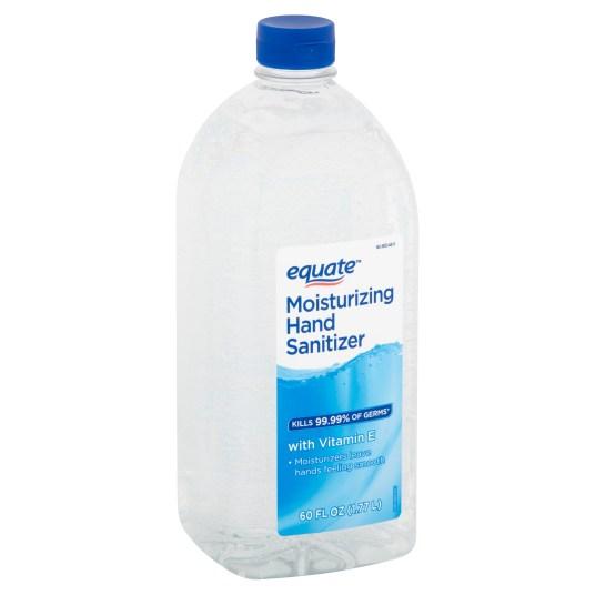 Equate moisturizing 60-fl oz. hand sanitizer for $8