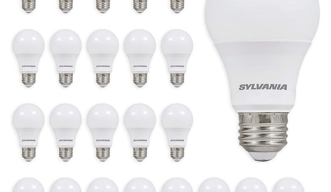 24-pack Sylvania 60W equivalent LED light bulbs for $22