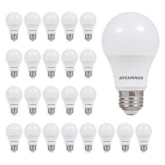 24-pack Sylvania 60W equivalent LED light bulbs for $25