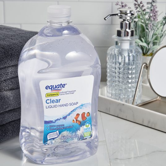 2-pack Equate clear 56-oz. hand soap refills for $8