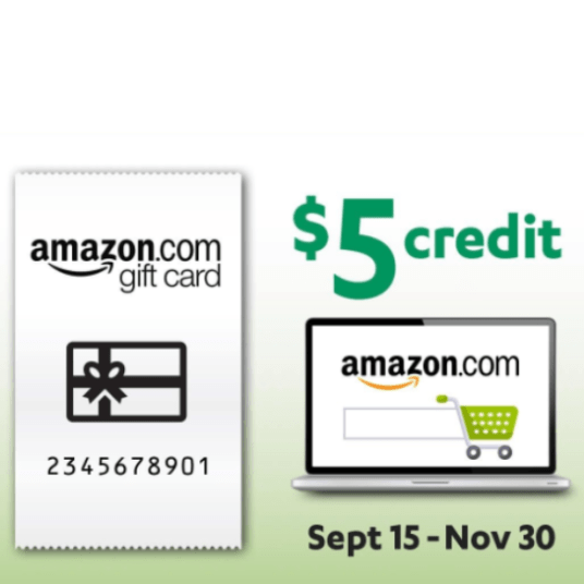 Coinstar: Get $5 extra when you deposit $30 for an Amazon gift card