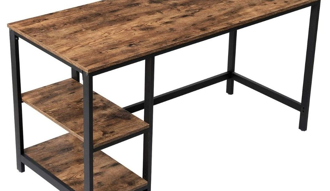 Vasagle 55-inch computer desk with 2 shelves for $120