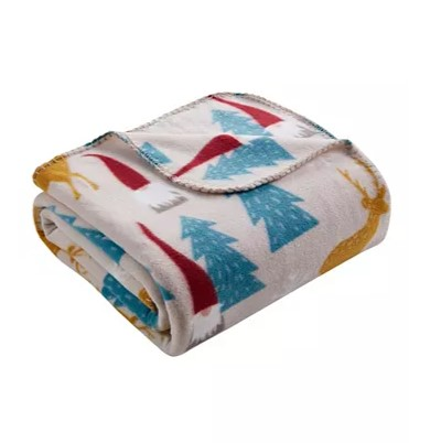 Morgan Home holiday fleece throw blankets for $6