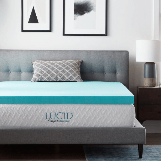 Lucid Comfort Collection 3-inch memory foam mattress topper for $60