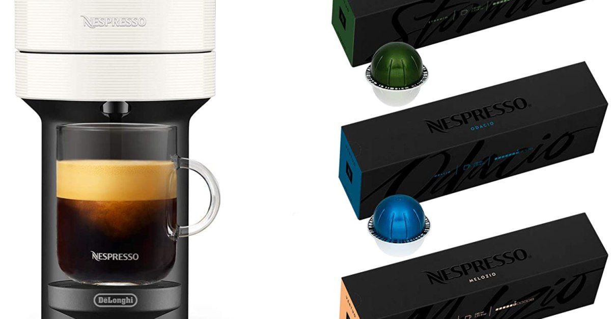 Today only: Nespresso Vertuo Next by De'Longhi with 12 coffee capsules for $100