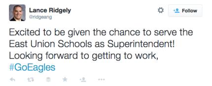 clarke community schools lance ridgely tweet