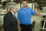 Governor Branstad tours the Altec Manufacturing Facility in Osceola, IA