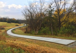The new trail system being installed on the North side of Osceola