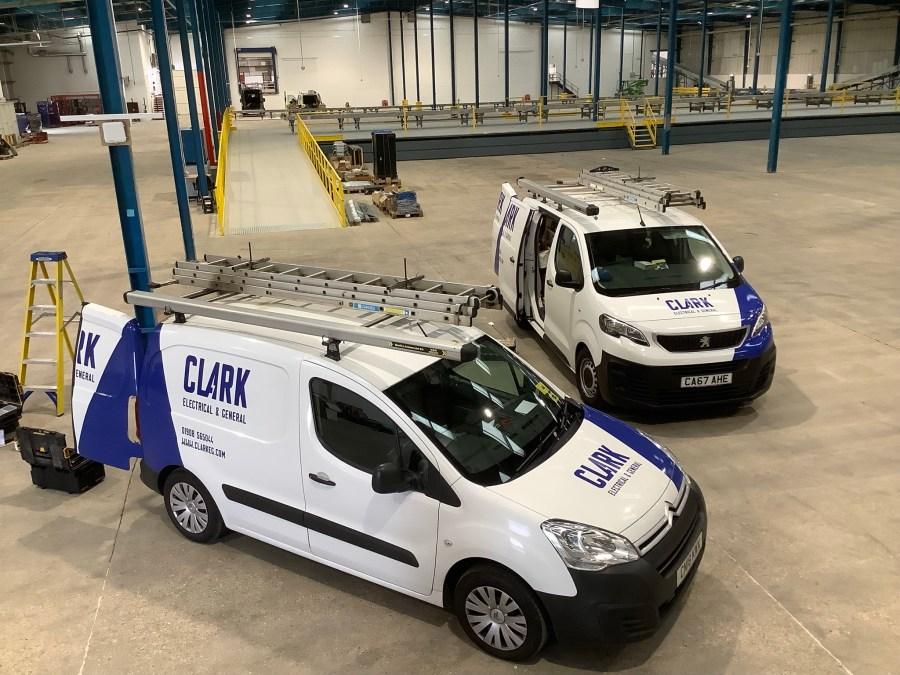 Electrical engineer vans on site