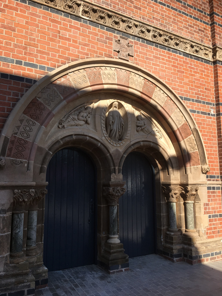 Completed stone restoration at St Mary's Belfast