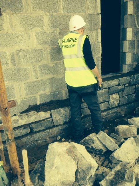 During restoration, St Joseph's Church, BallycranbegDuring restoration, St Joseph's Church, Ballycranbeg
