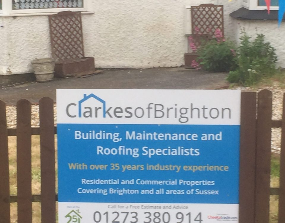 clarkes of brighton sign at nursery