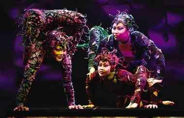"Performers from ""Cirque Dreams Jungle Fantasy."""
