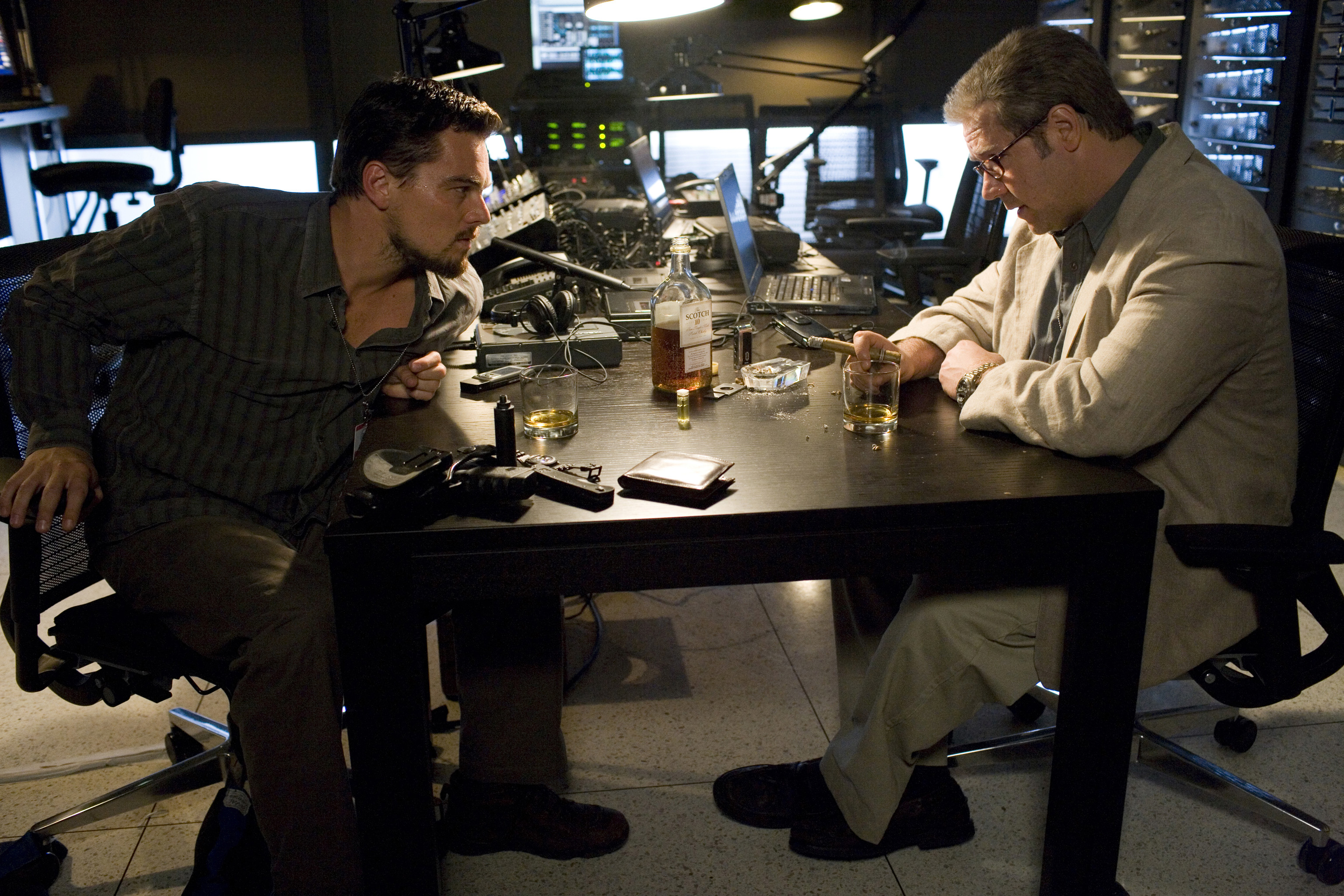 """Leonardo DiCaprio, left, and Russell Crowe in """"Body of Lies."""""""