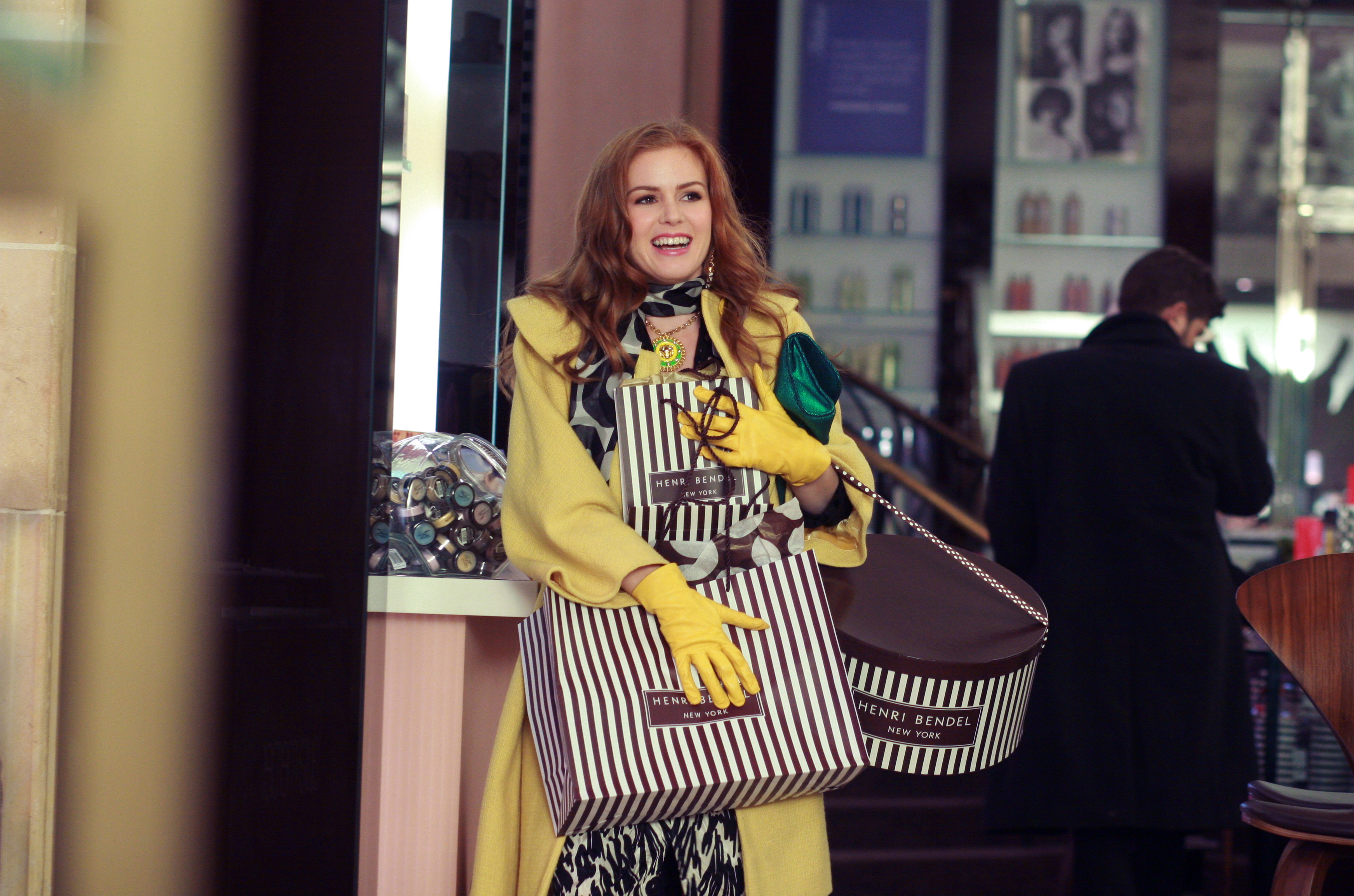 "Isla Fisher is on a permanent spending spree in the romantic comedy ""Confessions of a Shopaholic."""