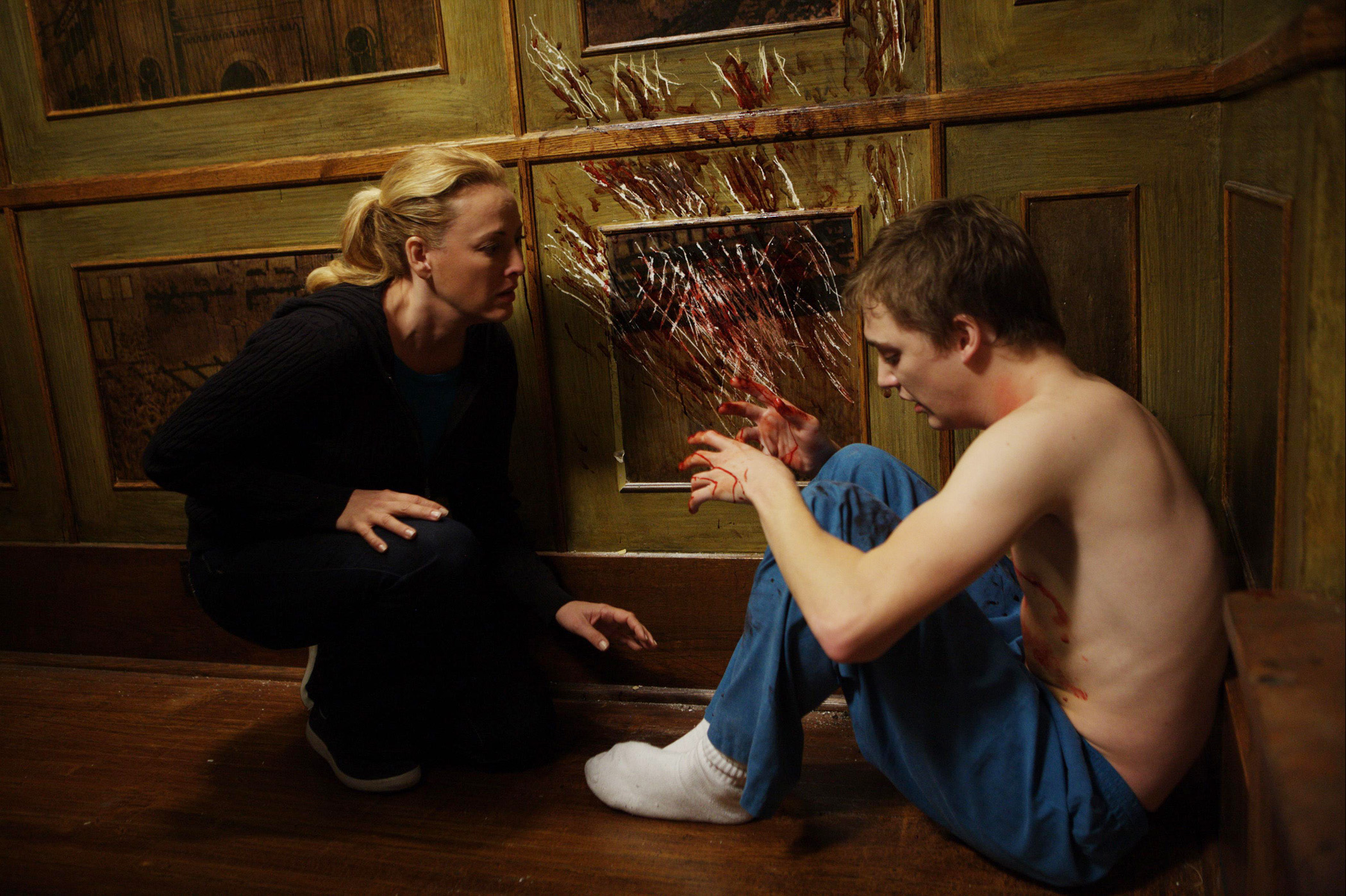 """Virginia Madsen, left, and Kyle Gallner, right, star in the horror thriller """"The Haunting in Connecticut."""""""