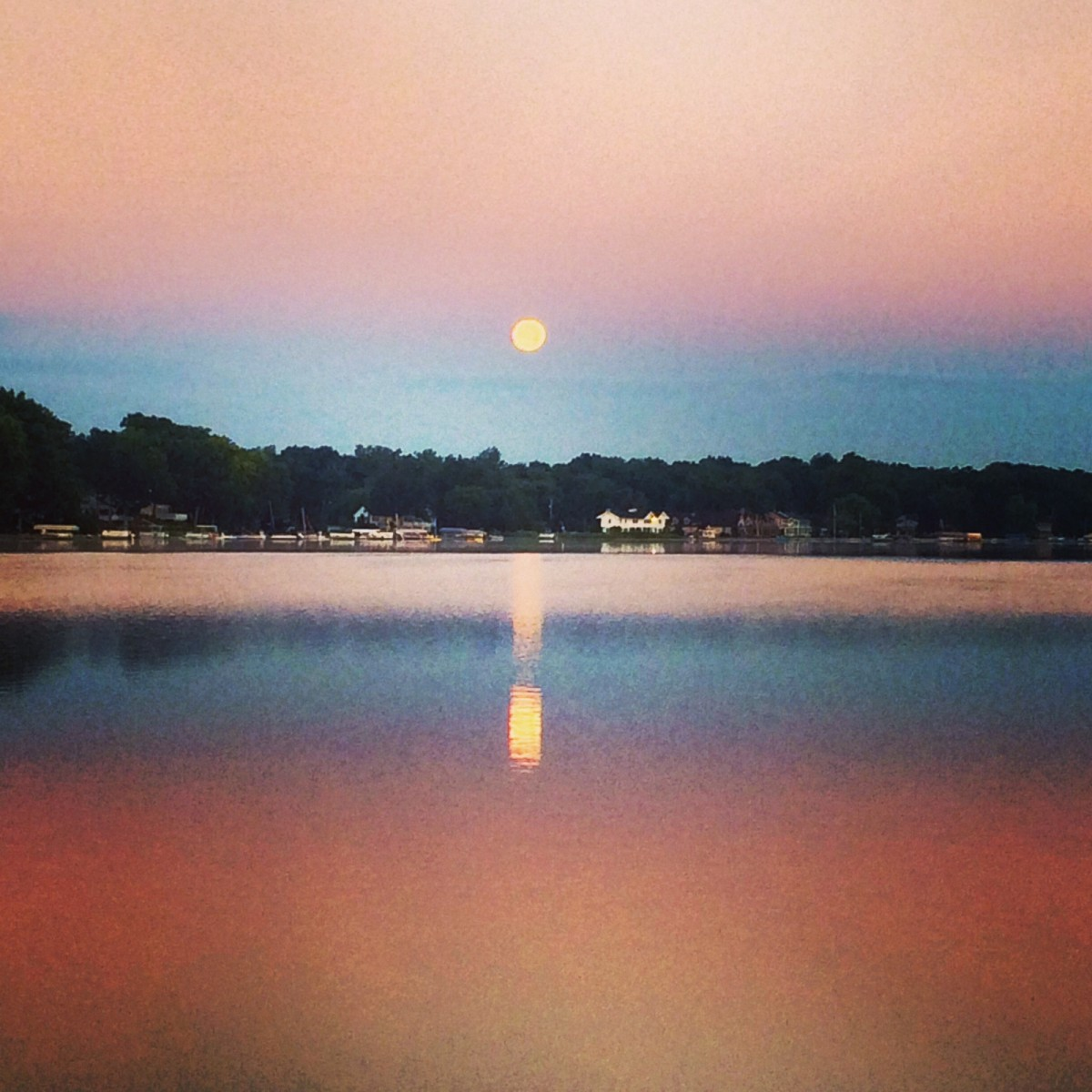 Clark Lake Moon Set Clark Lake Spirit Foundation