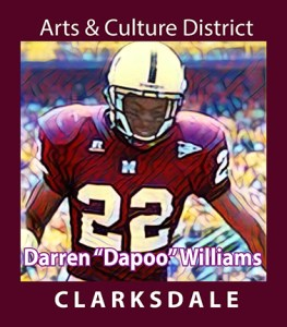 """Clarksdale High School and Missississippi State football player, Darren """"Dapoo"""" Williams."""