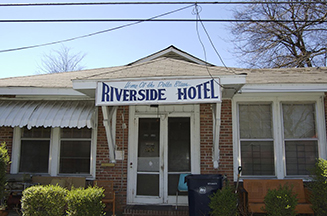 The Riverside Hotel in Clarksdale, where the first rock n' roll song ever was rehearsed, and where Robert Nighthawk often stayed.