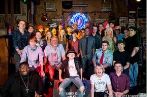 The 2014 Pinetop Perkins Foundation Master Workshop Experience class (photo Scott Rosenbaum).