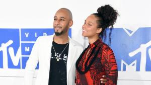 Swizz Beatz and Alicia Keys.