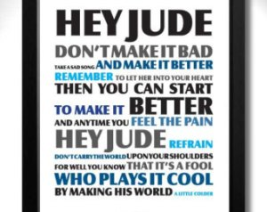 The Beatles, Hey Jude copy graphic.