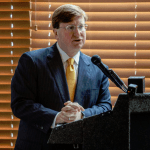 Mississippi Lt. Gov. Tate Reeves speaks during the Stennis Capitol Press Forum at Capital Towers in Jackson Monday, January 14, 2019. (Photo Eric J. Shelton/Mississippi Today)