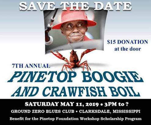 Pinetop Perkins Foundation boogie and crawfish boil.