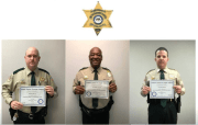 Whit Read, Ronnie Jefferson, Will Rooker of the Coahoma County Sheriff's Office.