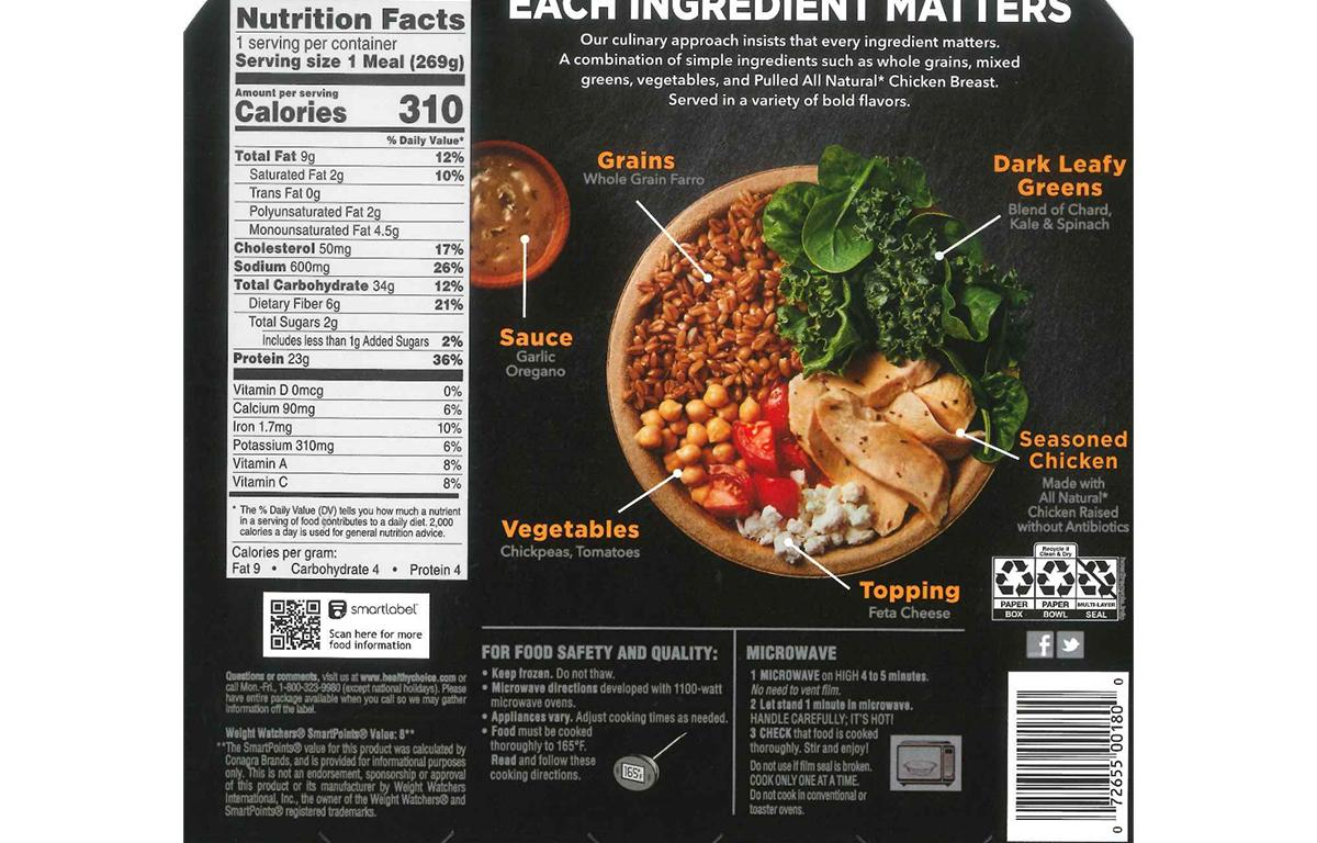 healthy choice power bowls recalled due
